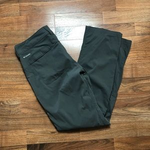 Columbia Gray Omni Shield Hiking Outdoor Pants 10